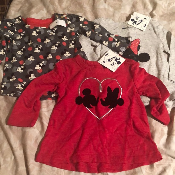 Mickey mouse long sleeve tops